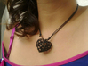 Voronoi Heart Piece Necklace 3d printed