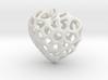 Voronoi Heart Piece Necklace 3d printed