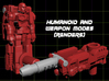 Locke Stockton Transforming Weaponoid Kit (5mm) 3d printed Render of figure in both modes