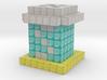 Diamond Saltshaker Pawn 3d printed