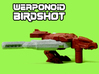 Birdshot (Falcon/Eagle) Transforming Weaponoid Kit 3d printed White strong and flexible print, hand painted.
