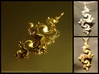 Dragon Pendant 6cm 3d printed Gold plated and premium silver