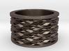 Basketweave Ring 3d printed