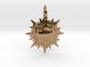 """""""doppio sole"""" pendant (cm 2,6) 3d printed"""
