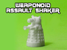 Assault Shaker Transforming Weaponoid Kit (5mm) 3d printed White strong and flexible print of Dalek mode.