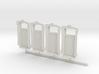 HO WCK 5ft 3in Door  X 4 3d printed