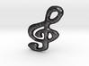 Treble-clef Pendant Charm 3d printed