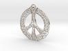 Celtic Peace Symbol Pendant 3d printed