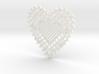 Heartshaped Coaster 3d printed