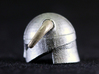 Iron Helmet 3d printed Painted Frosted Ultra Detail