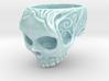 Porcelain HangingSkull01 3d printed