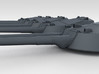 "1/700 RN WW1 13.5"" MKV Guns x5 HMS Iron Duke 3d printed 3d render showing turret detail"