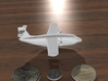 Flying Boat (around 1/300 scale) 3d printed White Strong & Flexible. Coins not included :)  This is a rendering.