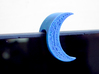 """Crescent Moon Webcam Privacy Shade / Cover / Charm 3d printed Fits on device / laptops lid with max. thickness of approx .375"""". You can add a felt inner layer for a perfect and soft fit on narrower tablets and laptop lids - for example this image shows  prototype* of moon on a laptop with lid thickness of about .25"""""""