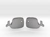 Whale Cufflinks 3d printed