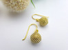 Ragweed Pollen Earrings 3d printed Ragweed pollen earrings in raw brass