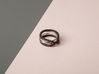 rollercoaster - internal ring 3d printed pictured material: polished silver and black matte steel