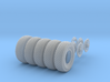1-24 Chevy LRDG Tire And Rims FUD Set3 3d printed
