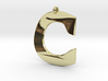 Distorted letter C 3d printed