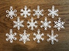 Snowflake Ornaments - One Dozen Small 3d printed All twelve of these ornaments are included with this order