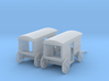 Milk Delivery Wagons Z Scale 3d printed 2 Milk Delivery Wagons Z scale
