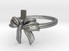 Bow Ring Ribbon 3d printed