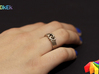 Entangled Love Sz19 3d printed Photo with ring in Stainless Steel