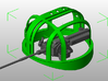 HDL 151 Turret Frame 1:10 3d printed This is part of a 3 piece Set