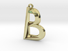 Distorted letter B 3d printed