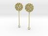 Virus Ball -- Earring Jackets or Earrings in Metal 3d printed