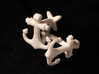 Anchor Cufflinks 3d printed Picture of White Polished Nylon