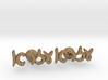 "Hebrew Name Cufflinks - ""Ezra"" Script 3d printed"