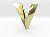 Distorted letter V 3d printed