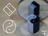 Improved Ambiguous Cylinder Illusion (Layout 4) 3d printed 3d printed object in front of mirror