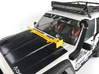 AJ10052 Jack and Hood Mount - BLACK 3d printed Shown in YELLOW mounted to hood of Axial XJ (sold separately)