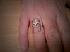 Spartan Helmet Ring - Size US 9.25 3d printed Worn daily for a year...