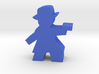 Game Piece, Gunman with fedora, trenchcoat, pistol 3d printed