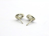 Stomata Earrings - Science Jewelry 3d printed Stomata earrings, reverse view