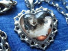 Custom Glass Cabochon Heart Necklaces 3d printed