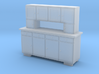 H0 Cupboard 4 Doors - 1:87 3d printed