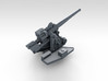 """1/700 4.7"""" /40 (12cm) QF Mark VIII x6 No Shields 3d printed 3d render showing product detail"""
