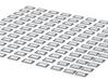 Railjetfenster Set Scale TT 3d printed