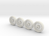Full set of 1/8 scale Wire Wheels 3d printed