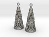 Filligree Cone Earrings 3d printed