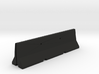 concrete jersey barrier 1/6 scale 3d printed
