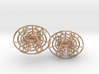 Enneper mesh earrings 3d printed