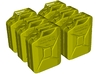1/15 scale WWII Wehrmacht 20 lt fuel canisters x 6 3d printed