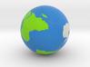 Globe White Antarctica 3d printed