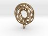Twisted Torus Pendant in metal 3d printed