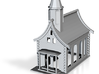 Country Church 3d printed Small Country Church